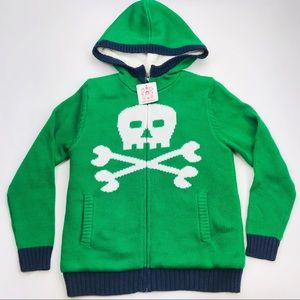 Hanna Anderson Boys Knit Jacket with Hood Size 10